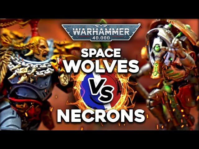 RAPPORT DE BATAILLE WARHAMMER 40.000 - Nécrons VS Space Wolf