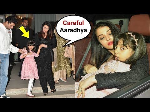 Aishwarya Rai Shows Love And Care To Daughter Aaradhya Bachchan In Public