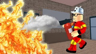 ROBLOX: THE OLD MAN'S NEIGHBORHOOD CAUGHT FIRE! (Fire Fighting Simulator)