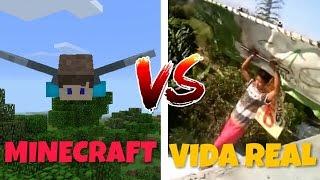 MINECRAFT VS VIDA REAL (Minecraft VS Real Life)