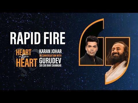 Rapid Fire | Heart To Heart With  Sri Sri Ravi Shankar | Karan Johar | Jio Studios