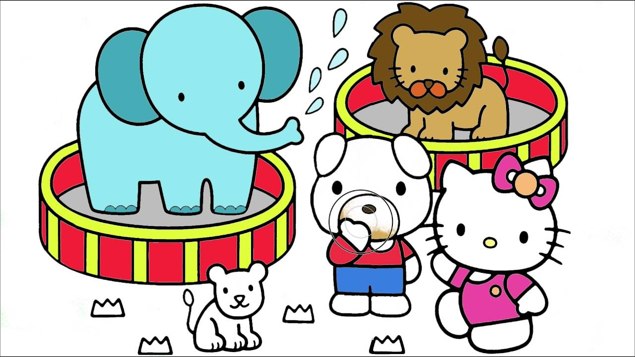 Hello Kitty Coloring Page 7   Little Hands Coloring Book - YouTube