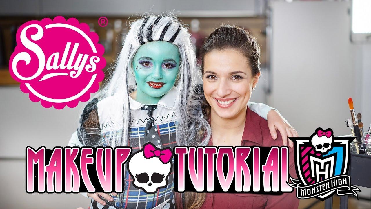 Monster High Frankie Stein Make-Up Tutorial / Kinderschminke - YouTube