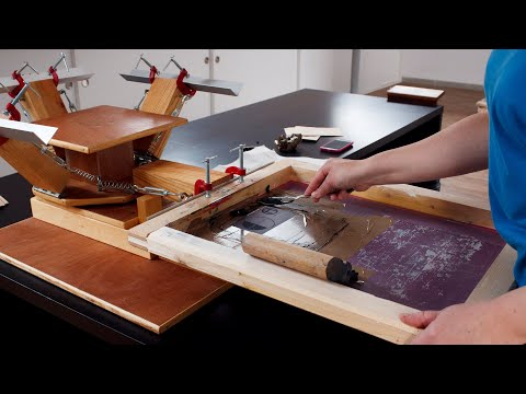 how to make a screen press