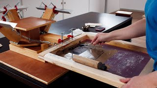 AMAZING SCREEN PRINTING PRESS / HOW TO MAKE IT EASY