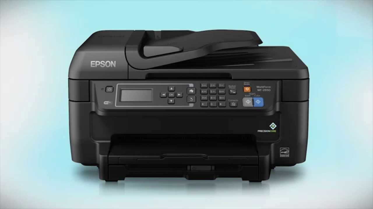 epson workforce wf 2650 wireless setup using the printer s buttons youtube. Black Bedroom Furniture Sets. Home Design Ideas