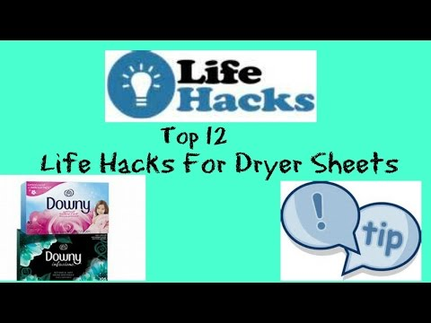 Top 12 Life Hacks For Dryer Sheets