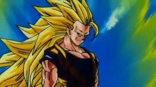 Goku Transforms into Super Saiyan 3 (Vegeta