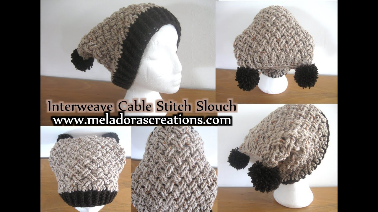 Interweave cable celtic weave crochet stitch slouch hat left interweave cable celtic weave crochet stitch slouch hat left handed crochet tutorial youtube bankloansurffo Choice Image