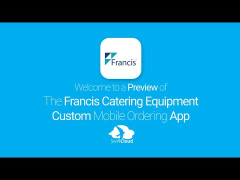 Francis Catering Equipment - Mobile App Preview - FRA000W