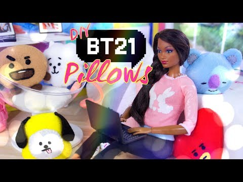 DIY - How to Make: BT21 Pillows | Tata | Van | Chimmy | RJ | Cooky & more