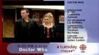 Doctor Who CBC contunuity footage with Christopher Eccelston for the Long Game 2005