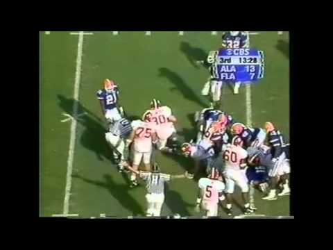 1999 #21 Alabama vs. #3 Florida Highlights