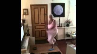 Fat granny dancing