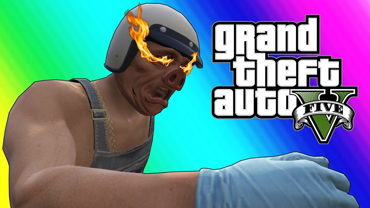 Gta  Online Funny Moments Stopping The Train And Wildcat Smash