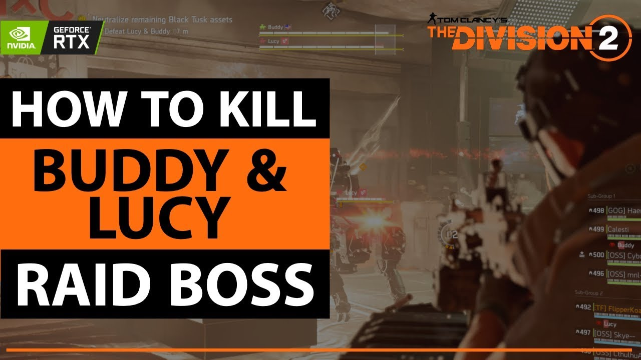 How To Kill Buddy & Lucy | Division 2 Raids | Third Boss