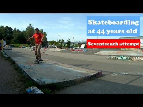 Session with small soft wheels - Old man Skateboard, Seventeenth Attempt