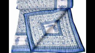 Bollywood quilts, Handmade cotton Quilt, Indian Quilts.wmv Thumbnail