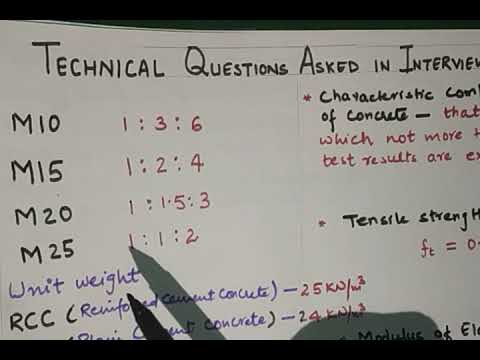 Civil Engineering - Technical Questions For Interview (RCC) -Part-1