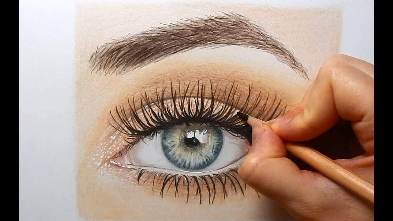 Drawing, Coloring an eye with colored pencils | Emmy Kalia ...