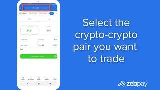 How to trade in crypto to crypto pairs on ZebPay? screenshot 3