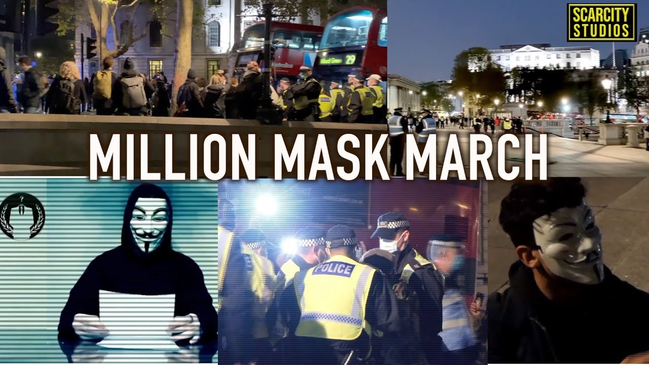 198 Arrests At The 'Million Mask March' ,London UK Protests Against Lockdown  #streetnews