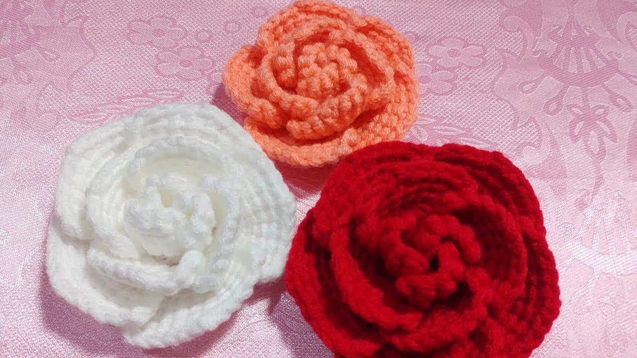 Hướng dẫn móc hoa hồng 3D