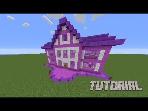 Minecraft Tutorial How To Make A Barbie Dream House Survival House YouTube