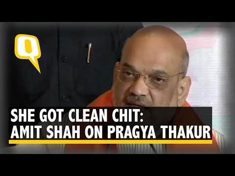 Amit Shah Defends Pragya Thakur, Says 'She got Clean Chit' | The Quint