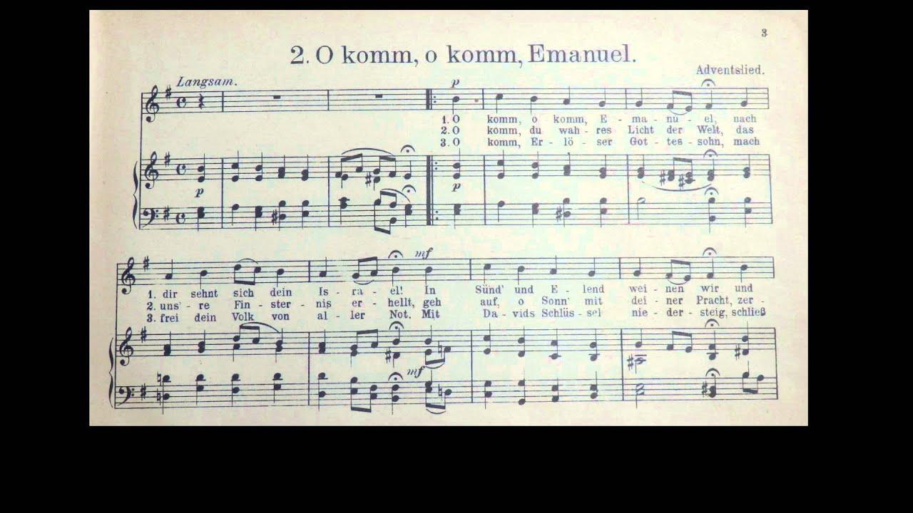 Weihnachtslieder: O komm Immanuel / Emanuel (Veni, Vení Emmanuel ...