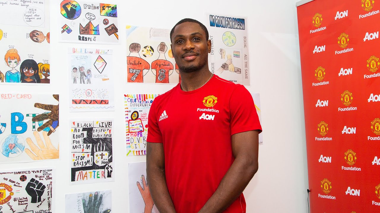 Manchester United players, Odion Ighalo and Luke Shaw praise children's anti-discrimination artwork