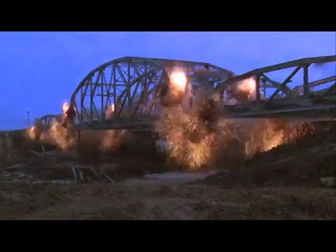 Tulsa County Bridge Demolished - Raw Video