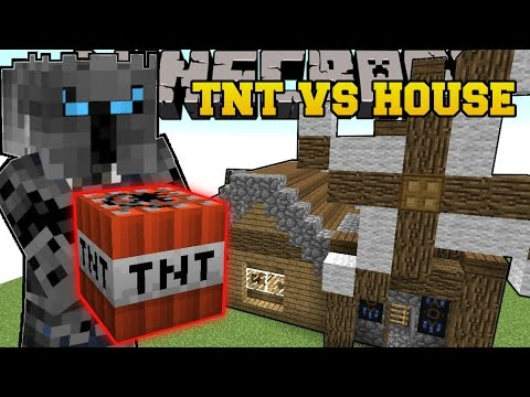 Minecraft: BLOWING UP HOUSES! TOTAL HOUSE BOMBOVER - Mini-Game