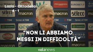 """Lazio-Cittadella, Venturato: """"Non li abbiamo messi in difficoltà"""""""