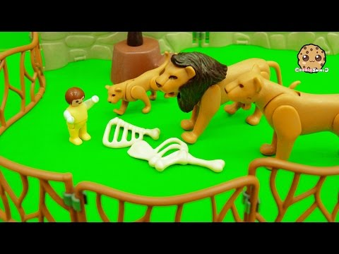 Thumbnail: Baby Gets Lost At Playmobil City Zoo And Crawls In Animal Cages - Toy Play Video