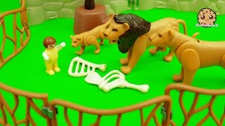 Baby Alex is lost at the Playmobil City Zoo!! Oh no!! Watch as he c...