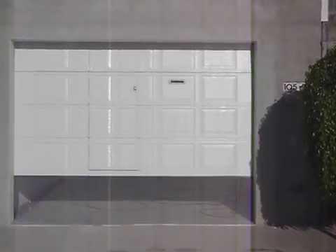 Porton Ascendente Tipo Americano Con Puerta Peatonal Youtube