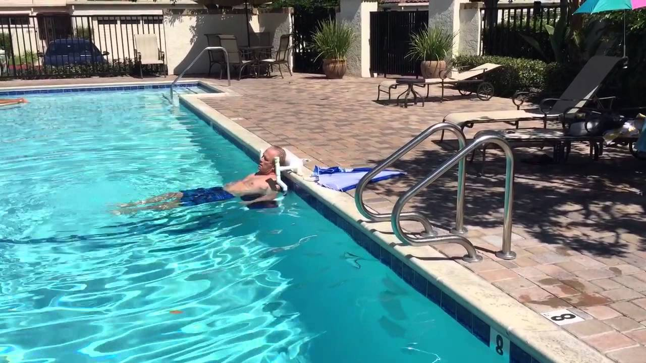 Cool Pool Chair in water pool chair - YouTube