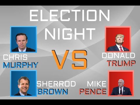 2020 Election Night | Chris Murphy (D-CT) vs Donald Trump (R-NY)