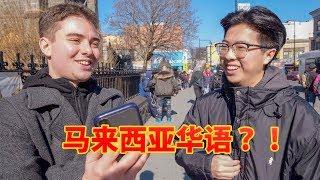 美国华人能听得懂马来西亚华语吗?!我们试试看!