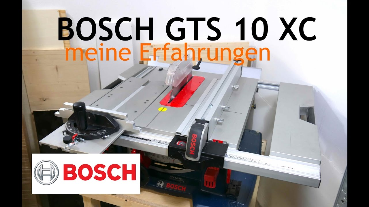Bosch Gts 10 Xc Professional Review Deutsch German Youtube