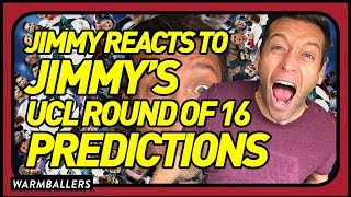 REACTING TO MY 2018 CHAMPIONS LEAGUE ROUND OF 16 PREDICTIONS!!!