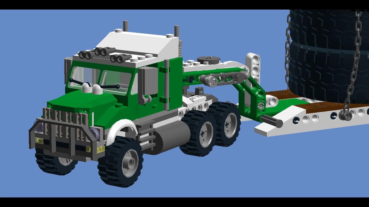 Lego Tractor Trailer : Greatest custom lego tractor trailer semi truck set ever
