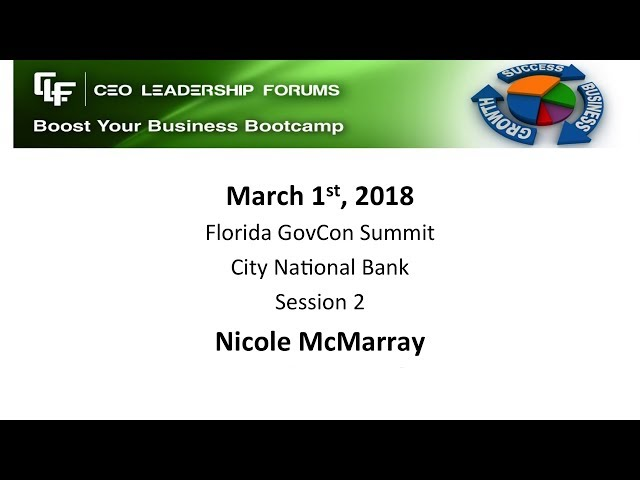 2018 03 01 GovCon Session 02 McMurray