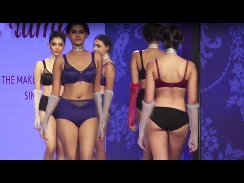 Indian Girls In Lingerie | Ramp Walk | Triumph Fashion Show 2017