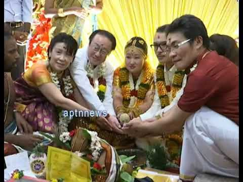 JAPAN COUPLE MARRIAGE IN  TRADITIONAL TAMIL CULTURE|CHIHARU|YUOT NINAGA
