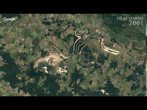 Google Timelapse: Calau, Germany