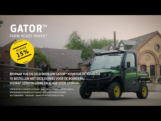 FARMREADY Pakket — Maak uw Gator™ klaar