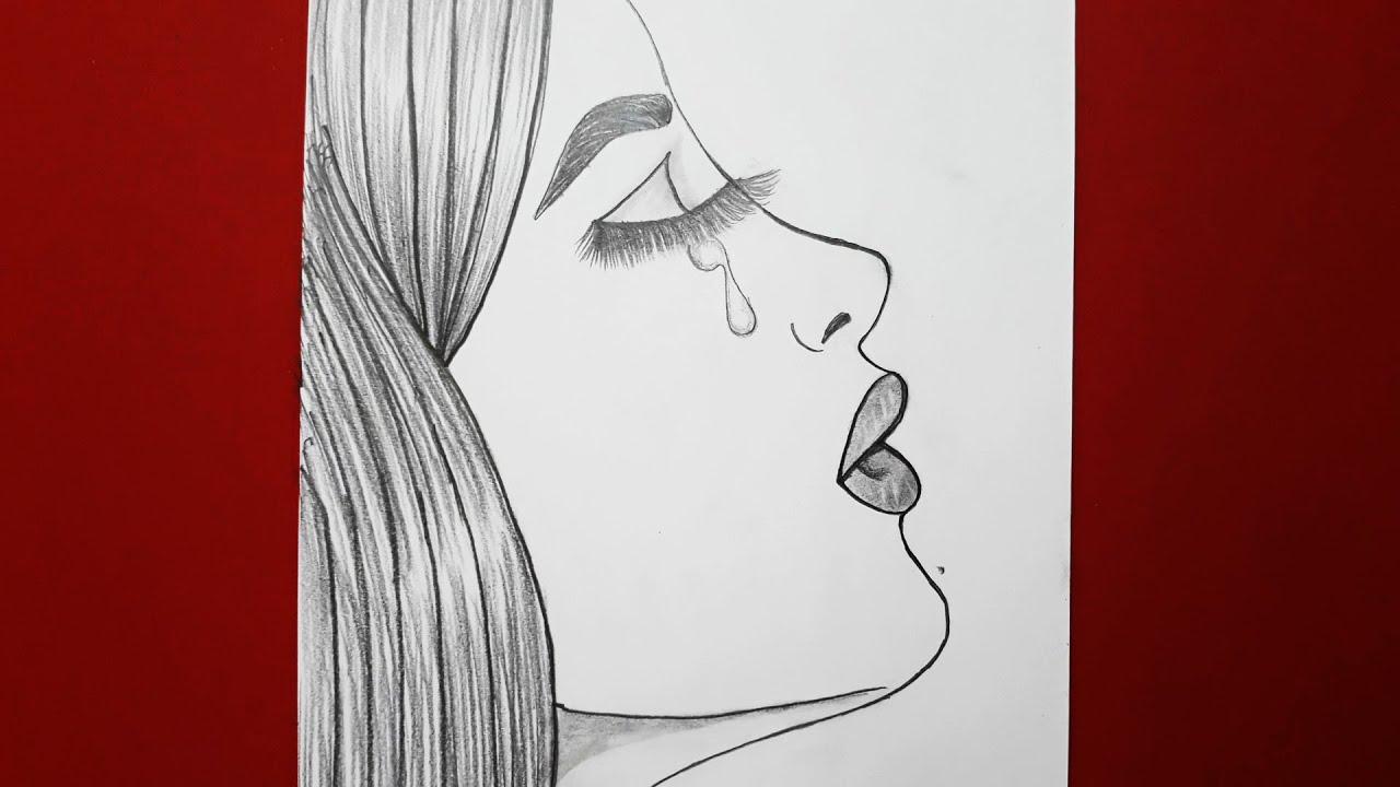 Cizime Yeni Baslayanlar Icin Uzgun Kadin Resmi Nasil Cizilir