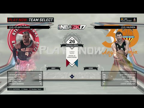 NBA 2K17 - Atlanta Hawks vs Valencia (FULL GAME)